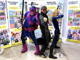 Hawkeye and Mockingbird with David Lopez by JonathanDuran