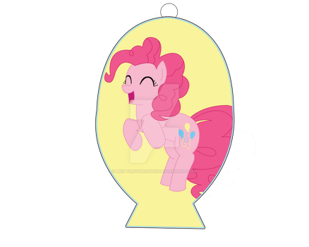 Pinkie Pie Cutie Mark Keychain by BrittanysDesigns