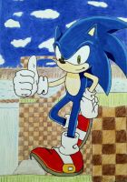 Sonic in Green Hill by SolidSnake684