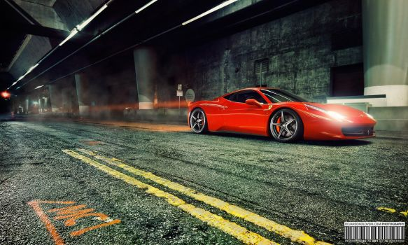 Ferrari 458 in Gotham City by dejz0r