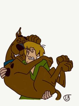 Scooby-Doo and Shaggy  by Intrestofdeer