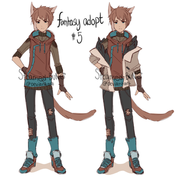 Fantasy adopt 5: meowguy (closed) by Steamed-Bun