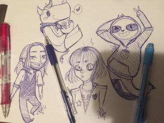 Doodles 1 by Slothberry