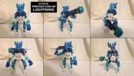 Bionicle (G2) MOC: Kivette Protector of Lightning by Hexidextrous