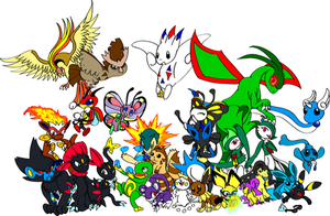 Epic PKMN group shot of DOOOOM by Sonic-Freak