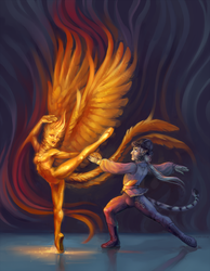 Prince Bahu and the Firebird by fralea