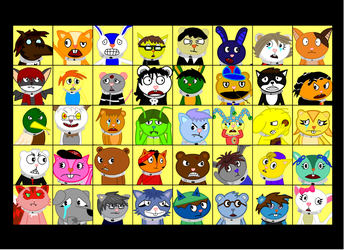40 players, 40 emotions by UnrealCanine
