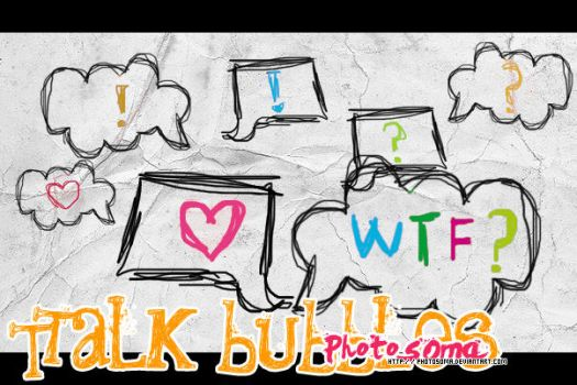 Talk bubbles brushes by photosoma