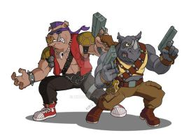 Bebop and Rocksteady by Kingoji