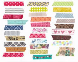 Washi Tape Strips by allboldgraphics