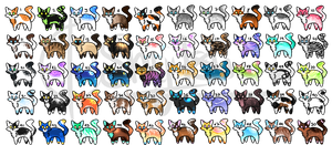 [OPEN 18/50] So many cats [Points|Set Price] by Shu-Adopts