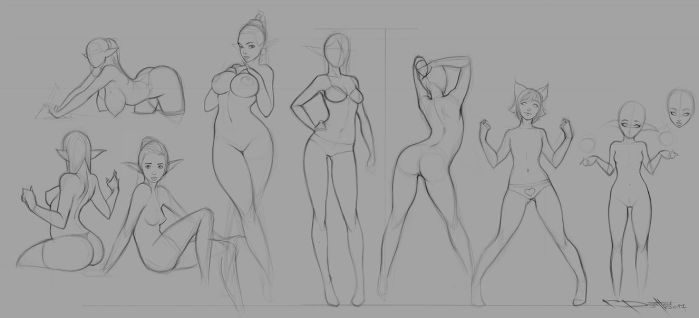 Sketches for gumroad by Boris-Dyatlov