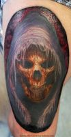 Skull tattoo by AtomiccircuS