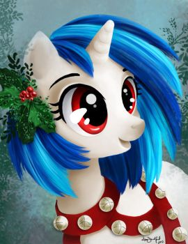 Merry Christmas from Vinyl Scratch by PaintedHoofprints