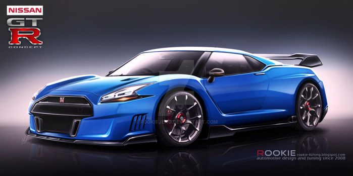 Nissan GT-R R36 concept blue by rookiejeno