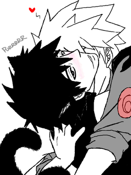 Tegaki - Ten Kitty and Kakashi by KakaYamaFanclub