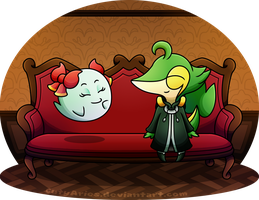 Commission - Good Time (GuitarSnivy-Twitch - 2) by CutyAries
