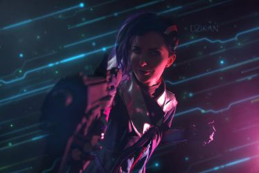 Sombra|Overwatch by Dzikan