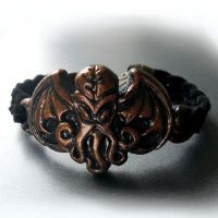 Cthulhu Suede Weave Bracelet by CthulhuJewellery