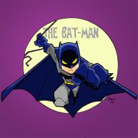 Lil Batman Colored by tyrannus