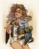 Goddess of the glitter and glam by saltmatey