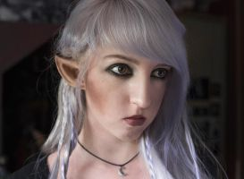 Dark Elf - Selfportrait /Make-Up Test by Liancary-art