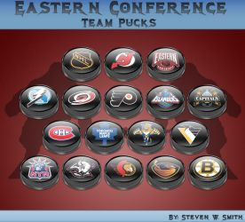 Eastern Conference Team Pucks by Steve-Smith