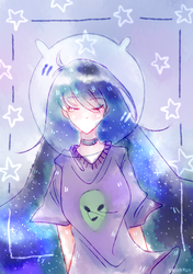 Space Gal by origamiis