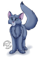 Bluestar the Once Great Leader by MaeraFey