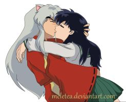 Inuyasha and Kagome - Finally... by Meletea