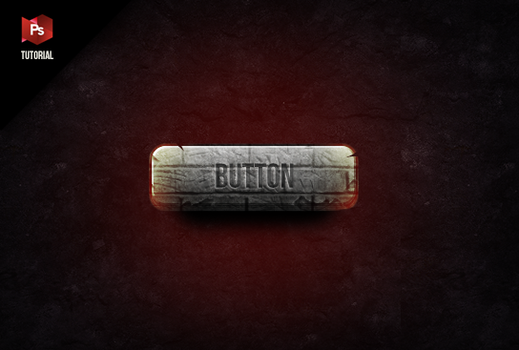 Stone button- PSD by FeistyGraphic