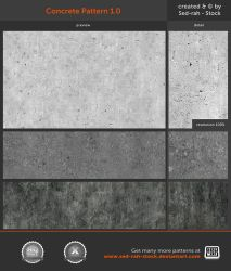 Concrete Pattern 1.0 by Sed-rah-Stock