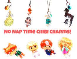 Chibi charms by periwinkleimp