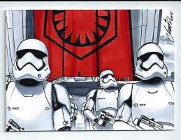 Stormtroopers STAR WARS Episode VII by HM1art