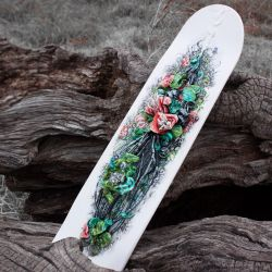 Hand Painted Skatedeck with Sculpture by AKOrganicAbstracts