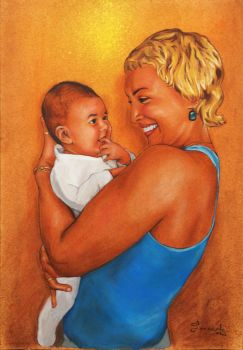 A woman with a little child in her arms by ColourOfLife