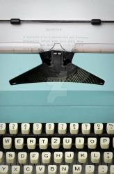 Old fashioned retro typewriter by Ondrejvasak