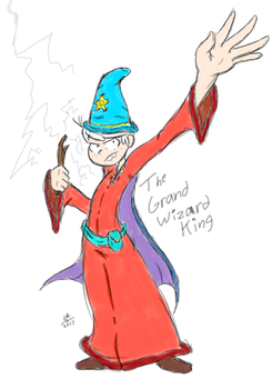 The Grand Wizard King by cartoon56