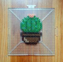 Baby Cactus Perler Beads by CrimsonsCreations