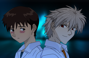 Kaworu and Shinji by Wrench27