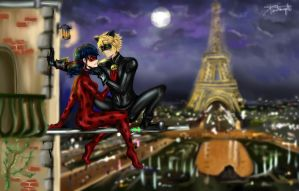 Ladynoir by Night by DaisyChanShooter