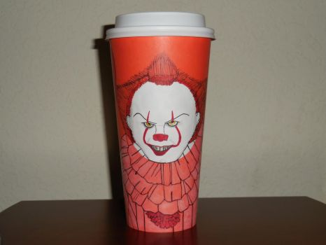 Starbucks Fall Cup: Pennywise the Dancing Clown by FlowerPhantom