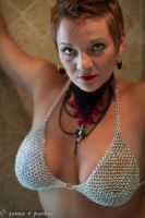 Chainmaille Choker and Bra Top by graywolfsmaille