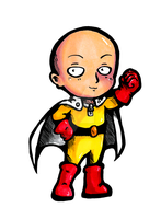 One Punch chibi sticker by Hotaru-oz