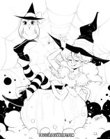 Inktober and Drawlloween 1st October: Witch by Prettio