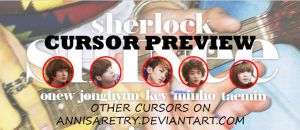 SHINee Sherlock 'Head' Cursors by annisaretry
