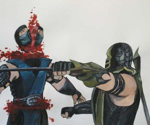 Scorpion Fatality on Sub-Zero Mortal Kombat by pauline86