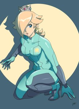 Princess Rosalina zero suit by lostonezero