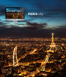 Paris night sky HD wallpaper by LeMex