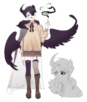 Adopt Auction: Demon Apprentice [closed] by yhviia-adopts